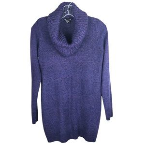H&M Purple Cowl Neck Long Sweater Relaxed Fit S